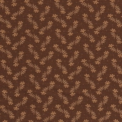 Warm Memories Cotton Fabric - Dark Chocolate - Clearance