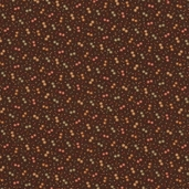 Warm Memories Cotton Fabric - Dark Chocolate