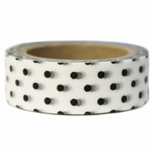 Washi Masking Tape 3pk - White/Black Polka Dot