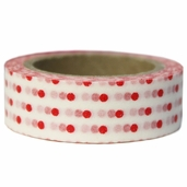 Washi Masking Tape 3pk - White/Red Polka Dot