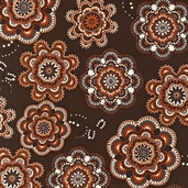 Way out West Cotton Fabric Fabric - Spice