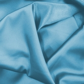 Wedding Fabric Barcelona Stretch Satin - Turquoise Blue