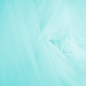 Wedding Fabric Fine Tulle Full Bolt 40yd - Aqua Blue