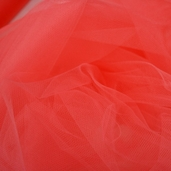 Wedding Fabric Fine Tulle Full Bolt 40yd - Coral