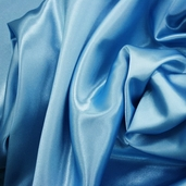 Wedding Fabric Sweetheart Satin - Crystal Blue