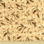 Weeds and Tweeds Cotton Fabric - Barley Toss - Natural