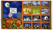 Welcome Great Pumpkin Cotton Fabric Panel - Royal