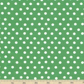 Welcome to Bear Country Mamas Dots Cotton Fabric - Green