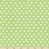Welcome to Bear Country Mamas Dots Cotton Fabric - Light Green