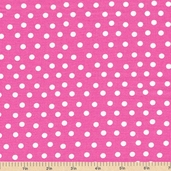 Welcome to Bear Country Mamas Dots Cotton Fabric - Pink