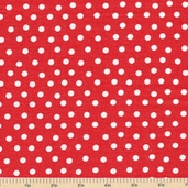 Welcome to Bear Country Mamas Dots Cotton Fabric - Red