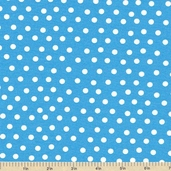 Welcome to Bear Country Mamas Dots Cotton Fabric - Turquoise
