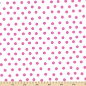 Welcome to Bear Country Mamas Dots Cotton Fabric - White