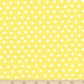 Welcome to Bear Country Mamas Dots Cotton Fabric - Yellow