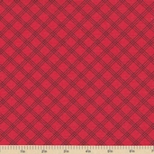 Welcome to Bear Country Plaid Cotton Fabric - Red
