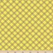 Welcome to Bear Country Plaid Cotton Fabric - Yellow