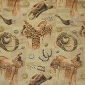 Western Upholstery Fabric - 60 inch - Sand - Clearance 5 yards