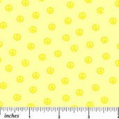 What a Hoot! Cotton Fabric - Peace - Yellow