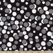 What's the Buzz Dot Cluster Cotton Fabric - Black