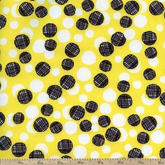 What's the Buzz Dot Cluster Cotton Fabric - Yellow