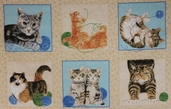 Where's the Cat?? Panel from Exclusively Quilters Fabrics - Cream