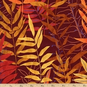 Whispering Woods Leaves Cotton Fabric - Autumn ASB-8294-191 AUTUMN