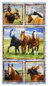 Wild At Heart Panel Cotton Fabric - Brown