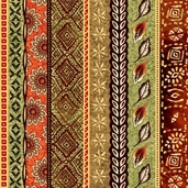 Wild Beat Cotton Fabric Collection - Rust