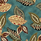 Wild Beat Cotton Fabric - Earth
