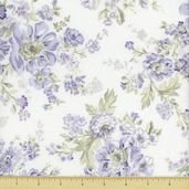 Wild Flowers Cotton Fabric - Floral Bouquets - Lavender