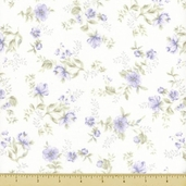 Wild Flowers Cotton Fabric - Floral Toss - Lavender