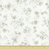 Wild Flowers Cotton Fabric - Floral Toss - Sage