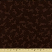 Wild Horses Cotton Fabric - Brown 60337-90
