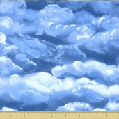 Wild Horses Cotton Fabric - Light Blue 8308-2