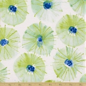 Wildflower Cotton Fabric - Sundrops - Cornflower - Clearance