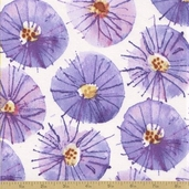 Wildflower Cotton Fabric - Sundrops - Wisteria - Clearance