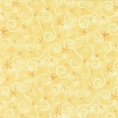 Wildflower Fairies Cotton Fabric - Yellow