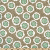 Wildflowers Gerbers Cotton Fabric - Grey