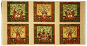 Harvest Home Cotton Fabric - Panel