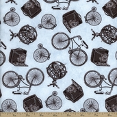 Wilmington Prints Ooh La-La Fancy Things Cotton Fabric - Blue