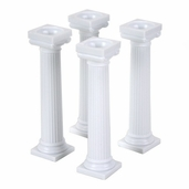Wilton Grecian Pillars 5in. in White - 4pcs