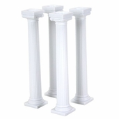 Wilton Grecian Pillars 7in. in White - 4pcs