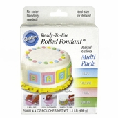 Wilton Rolled Fondant - Pastel Colors Multi Pack