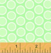 Windham Fabrics Basic Pastels - Green circle
