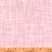 Windham Fabrics Flannel Bear - Pink grid dot
