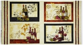 Wine A Little, You'll Feel Better Placemat Panel - Ivory
