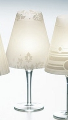 Wine Glass Candle Lamp Shades Vintage Style 4 pk