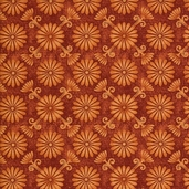Wine Tasting Cotton Fabric - Rust
