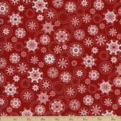 Winter Essentials Snowflake Cotton Fabric - Red