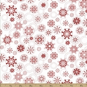 Winter Essentials Snowflake Cotton Fabric - White